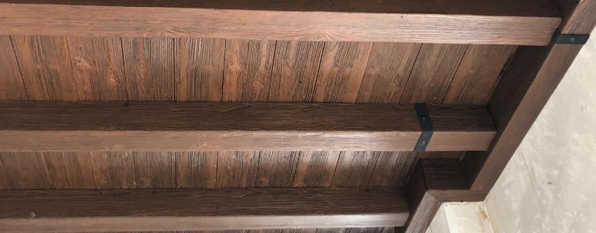 Vigas imitacion madera de poliuretano decorativas y - Paneles imitacion madera ...